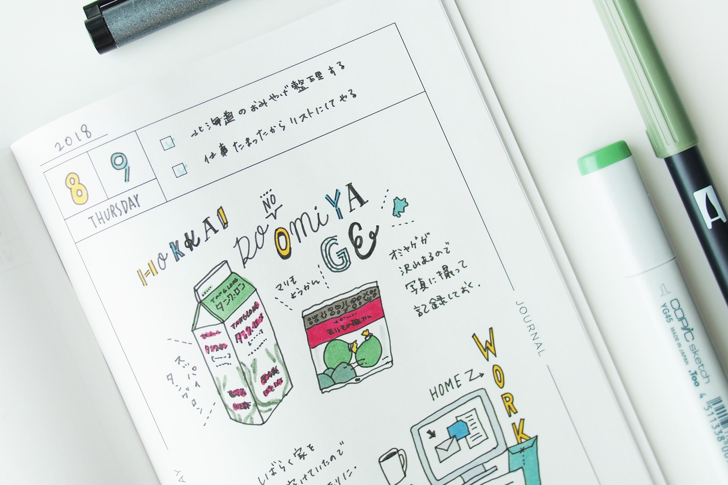 手帳にパッケージを描く時の小文字の書き方ちょいテク Ayano Usamura